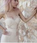 Vestido bandage lencería nude